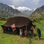 Iran Nomads Black Tent