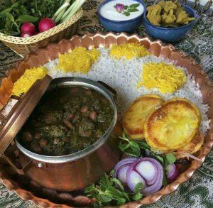 Iranian Food Ghormee Sabzi