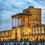Ali Qapu palace in Isfahan - Iran classic route