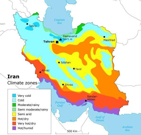 Iran Climate Zone