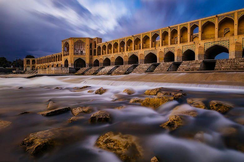 Khaju Bridge - Isfahan - Letsvisitpersia travel