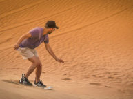 Varzaneh Desert sandboarding