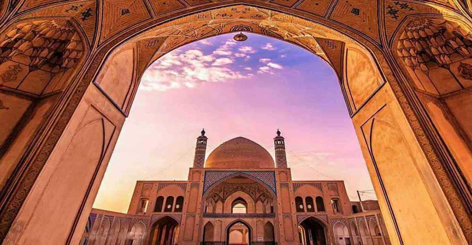 Aqa bozorg mosque kashan iran
